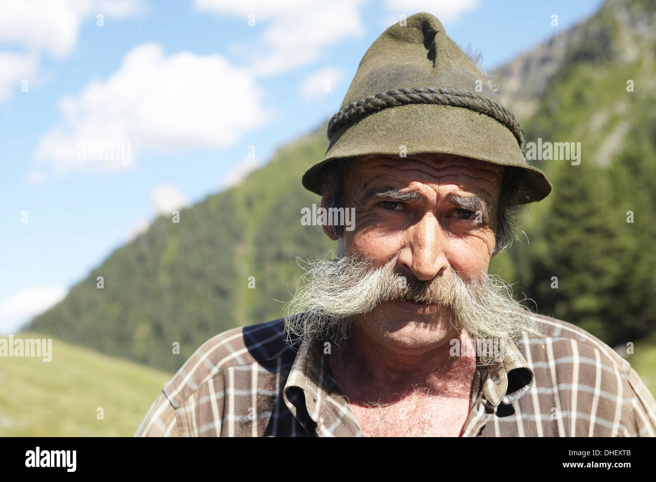 Farmer posing for camera - Stock Image