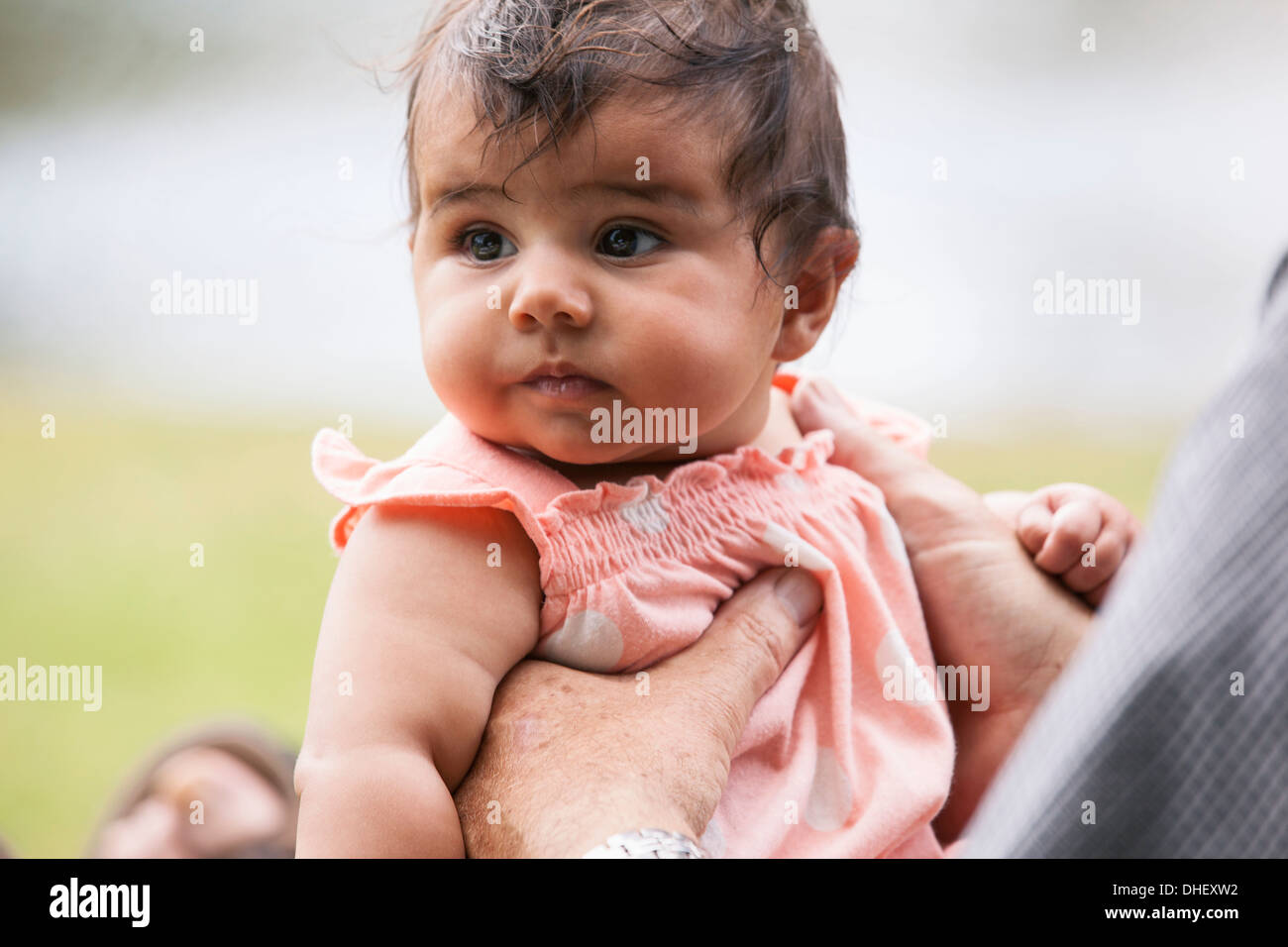 Baby in arms - Stock Image
