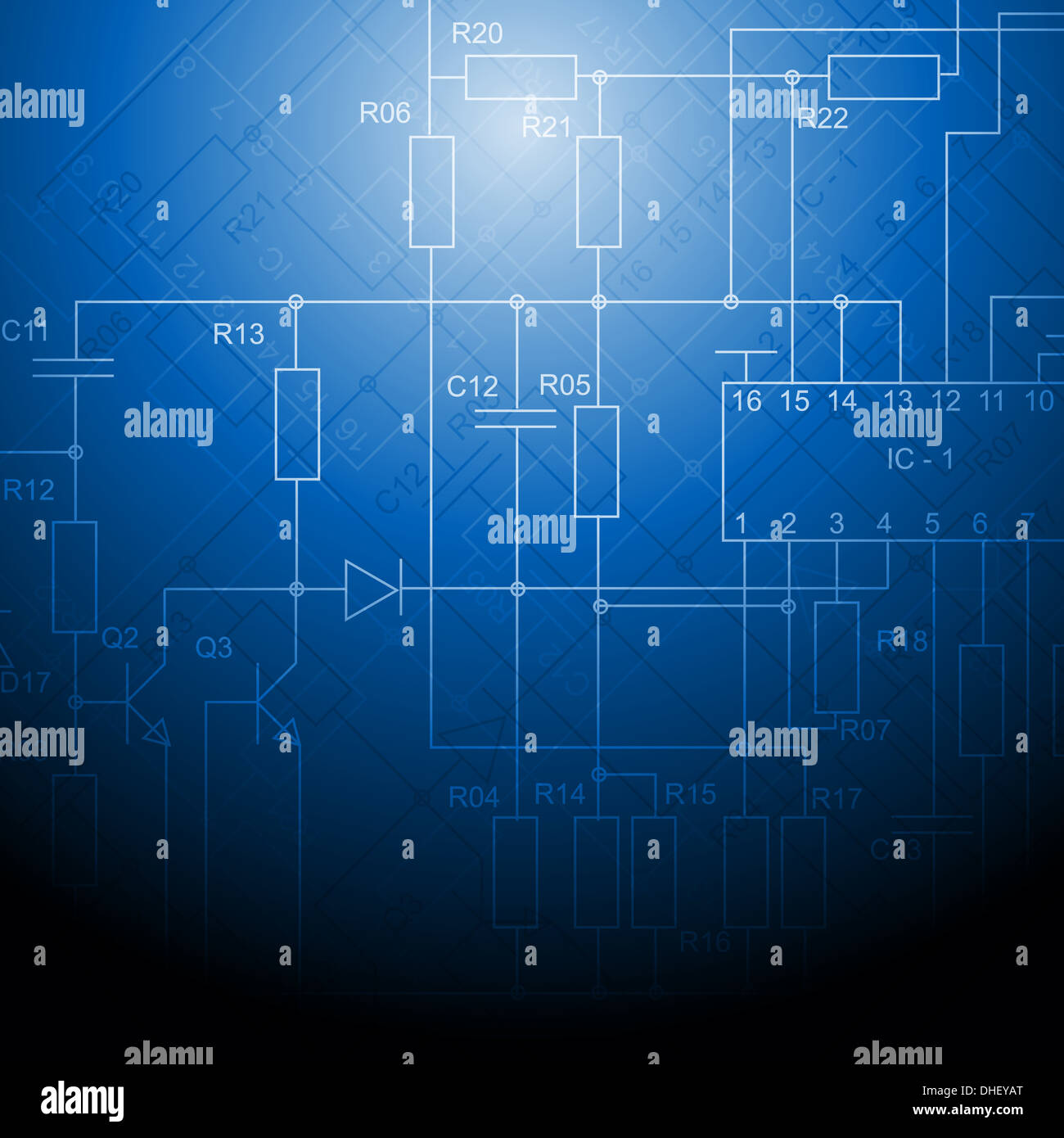 Abstract electrical scheme background. Vector design Stock Photo ...