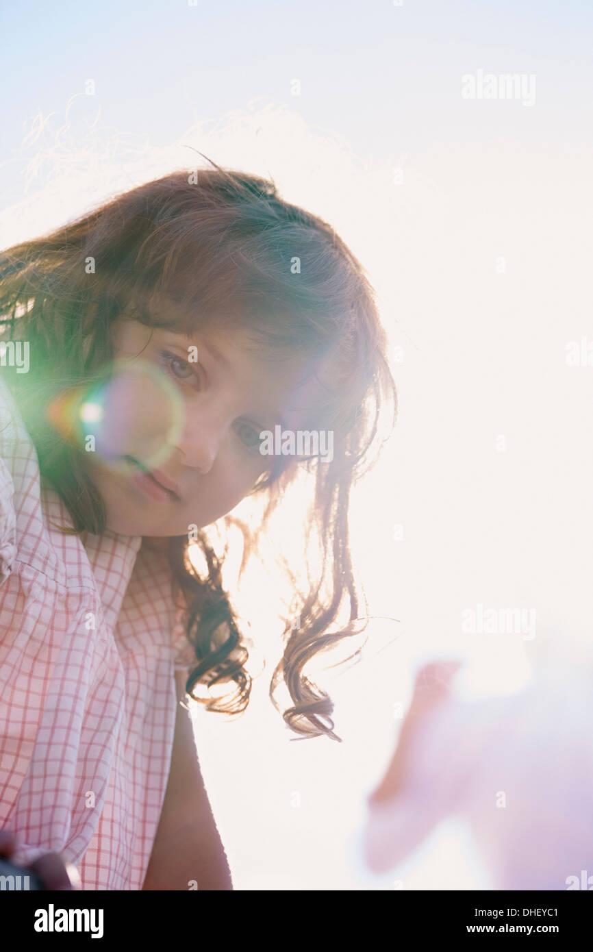 Portrait of young girl, Utvalnas, Gavle, Sweden - Stock Image