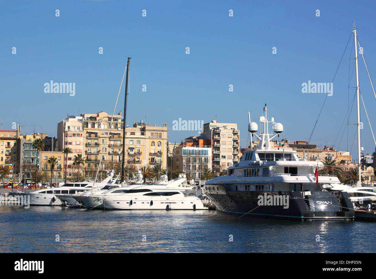 Boats in Barcelona, Spain Stock Photo
