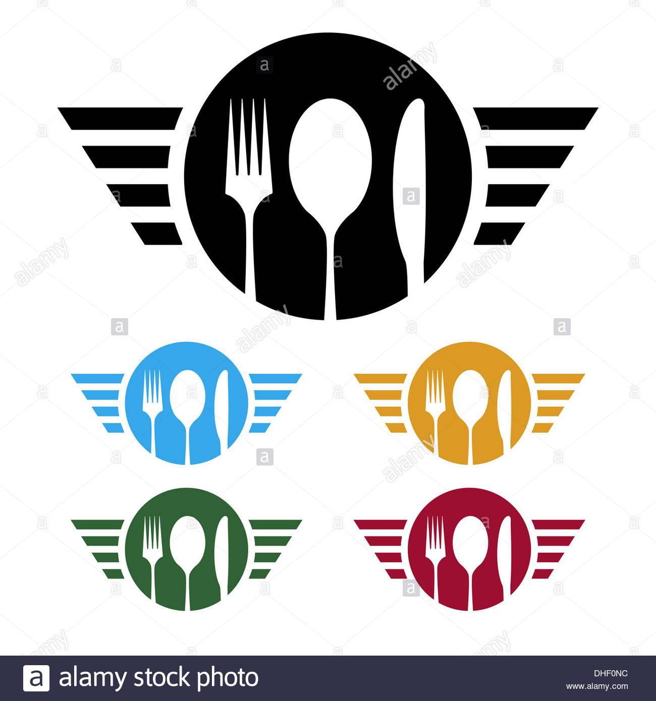 Food business logo - Stock Image