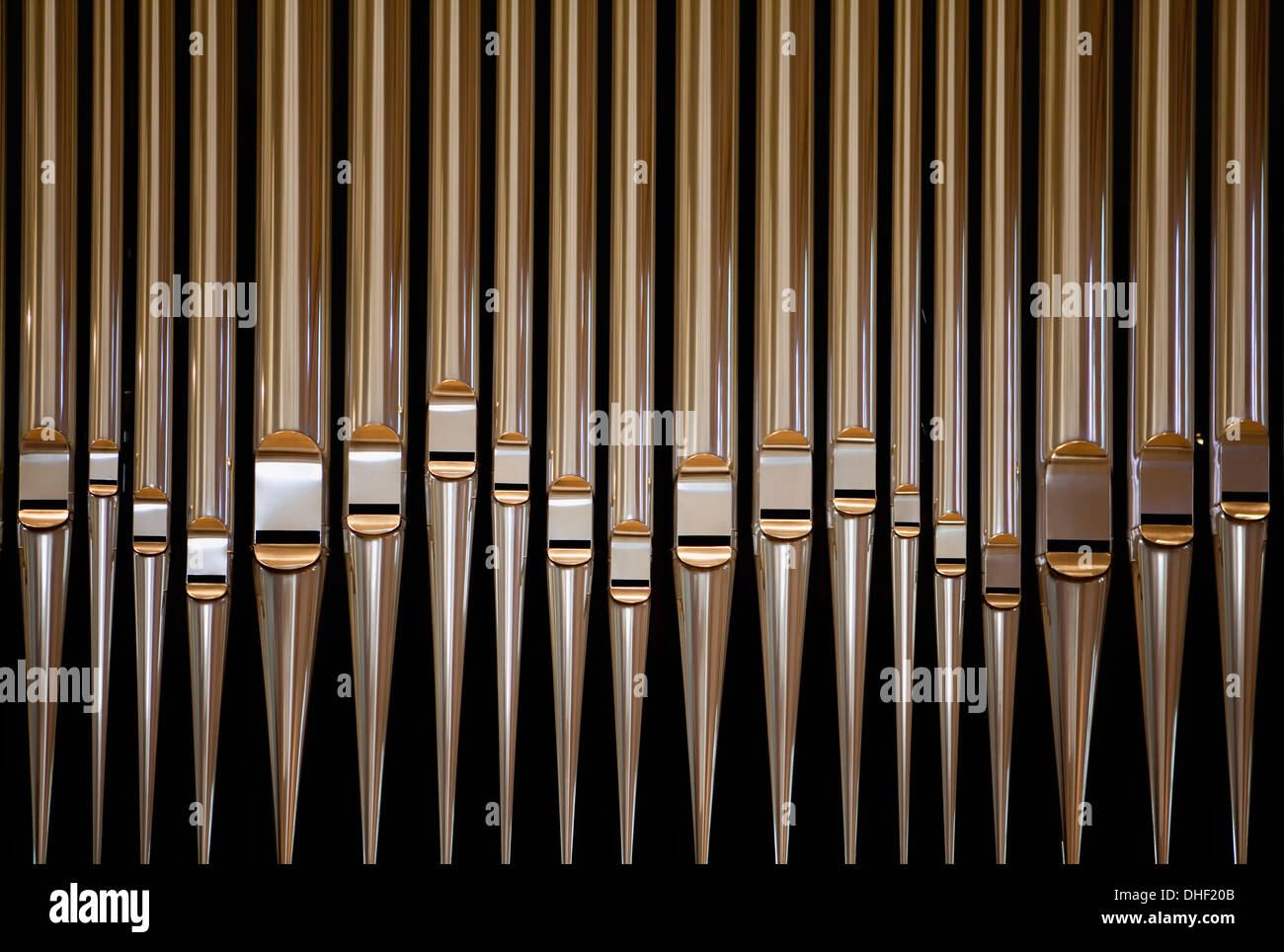 Organ pipes, Cistercian monastery Loccum, Lower Saxony, Germany - Stock Image