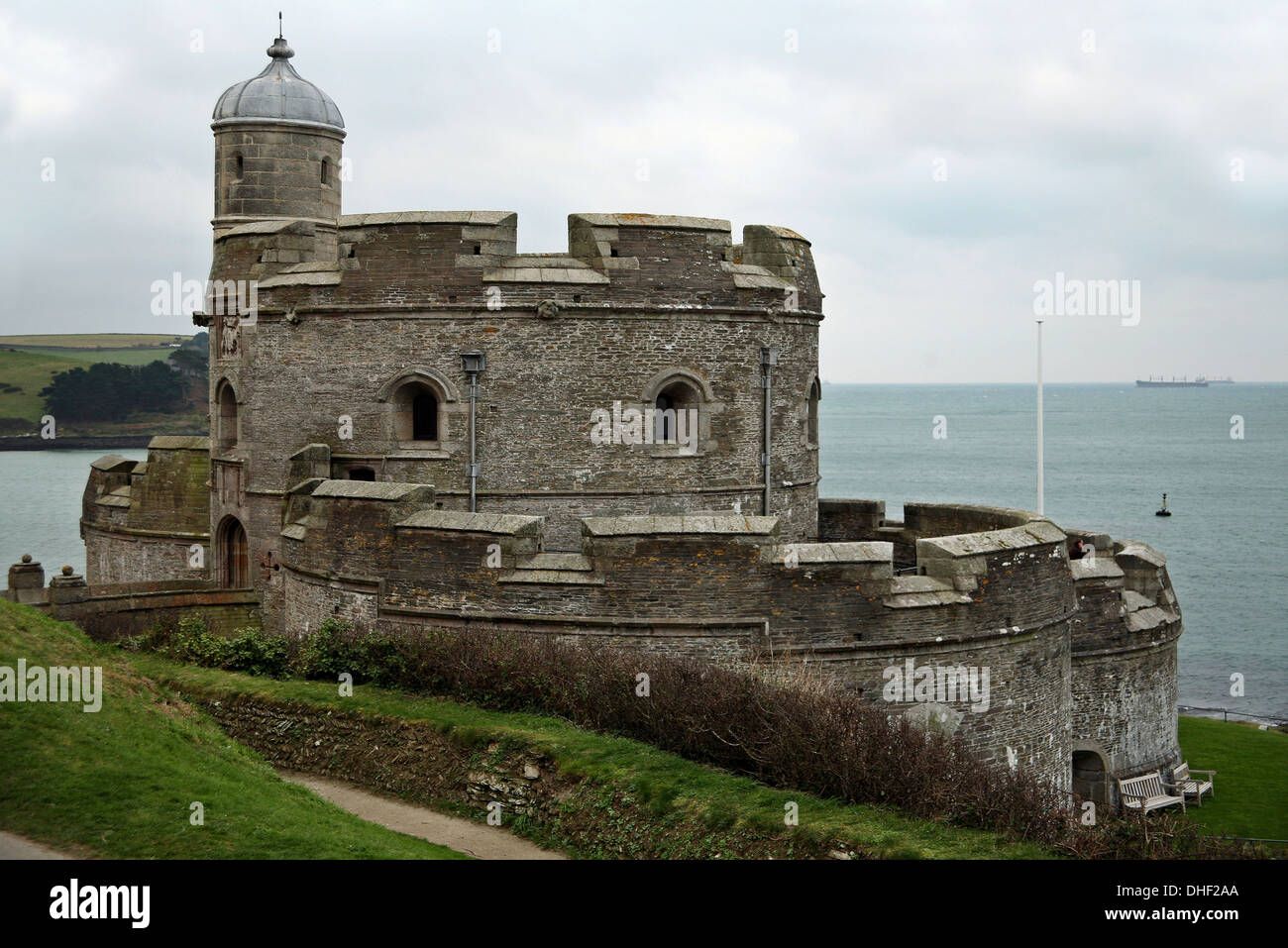 St Mawes Castle in Cornwall - Stock Image