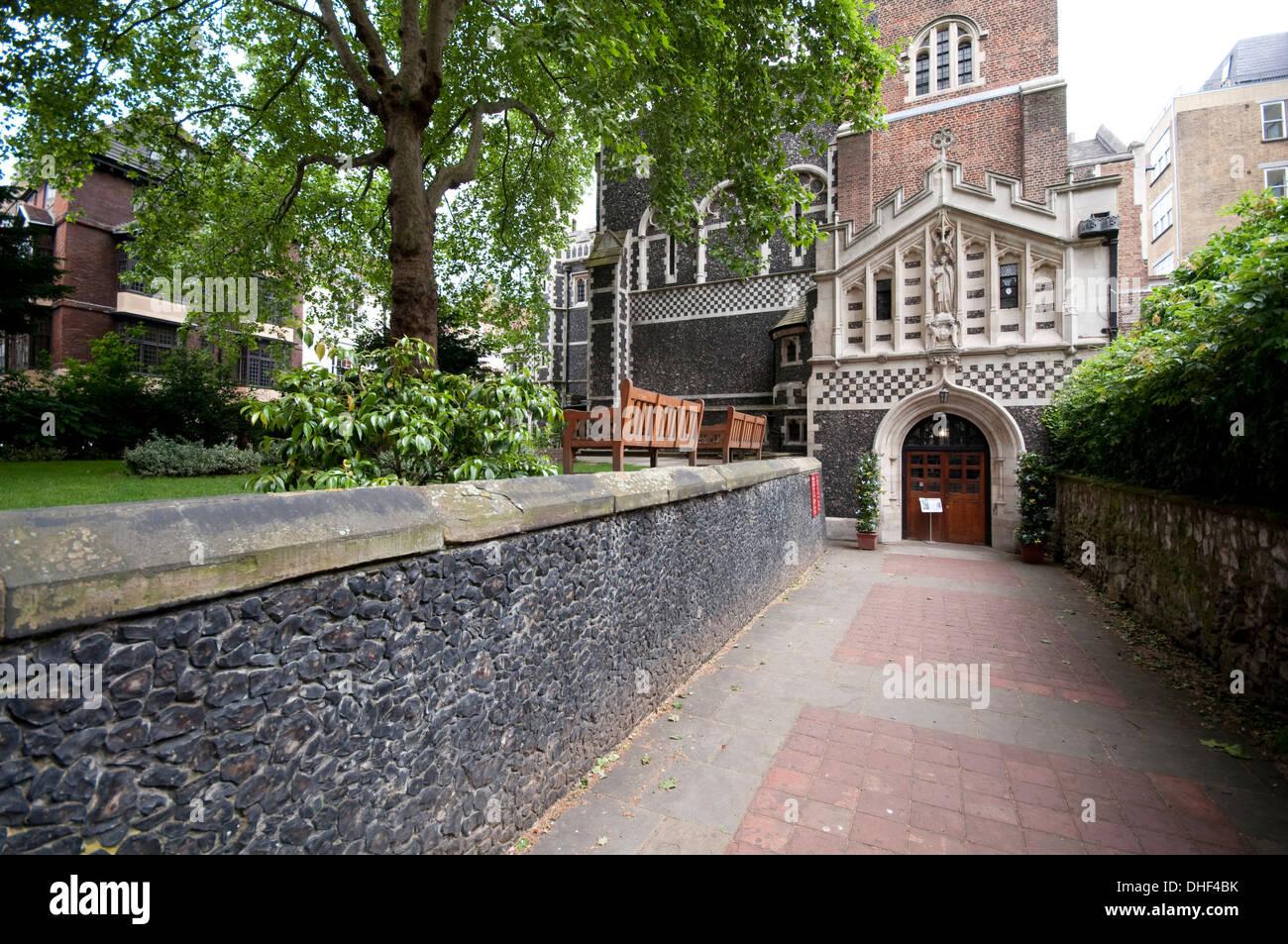 England, London, Saint Bartholomew The Great, Church, - Stock Image