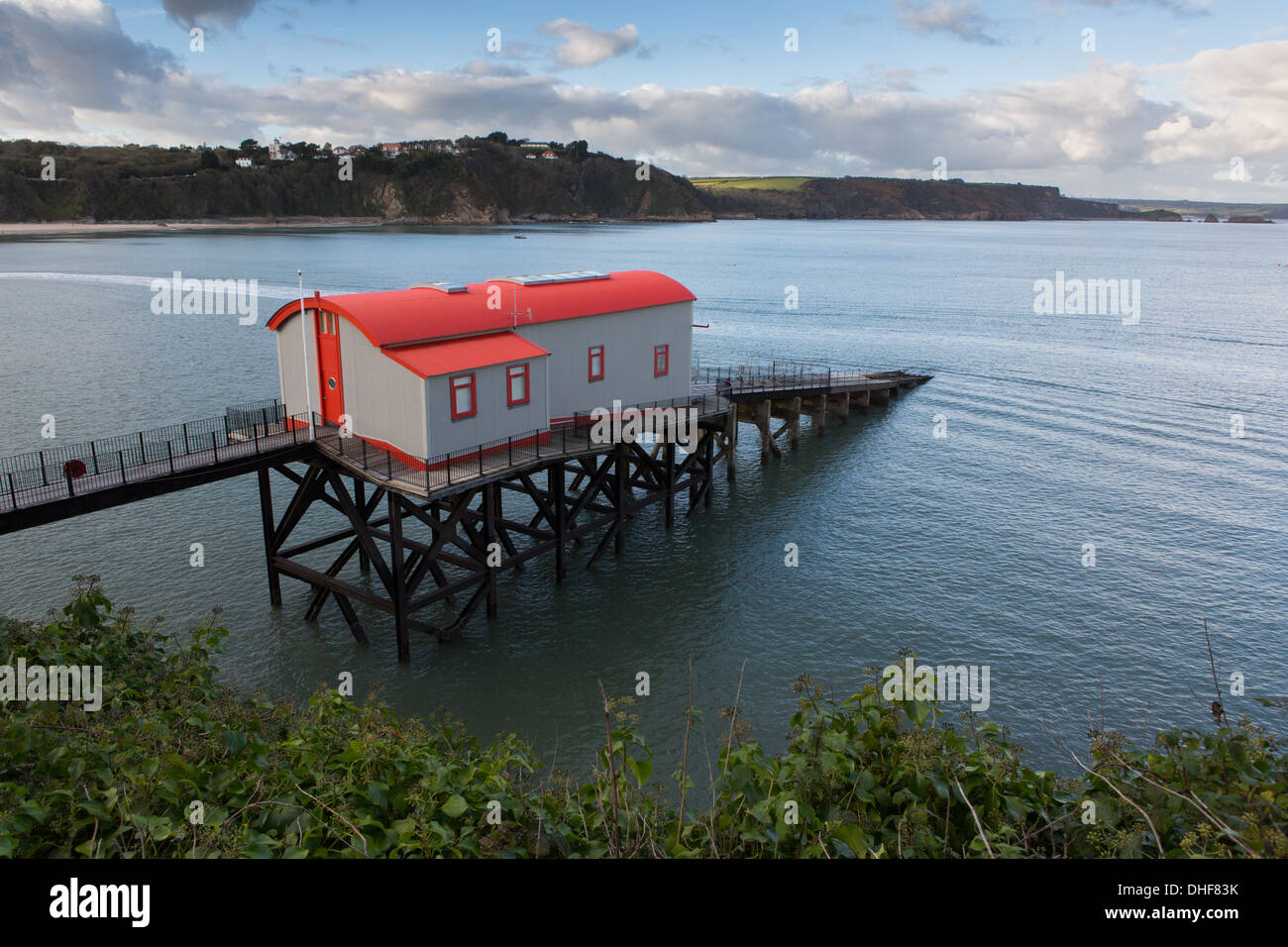 The Old Lifeboat Stattion, Tenby Stock Photo