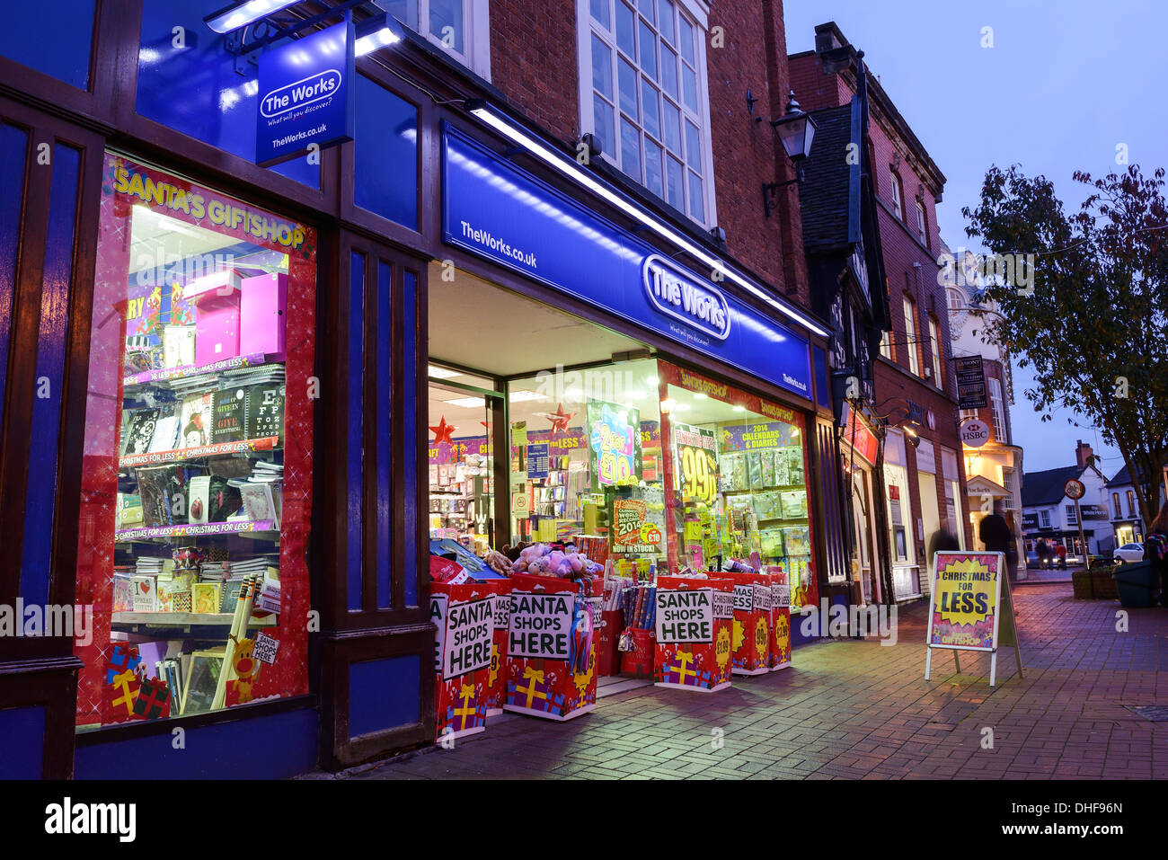 The Works retail shop front - Stock Image