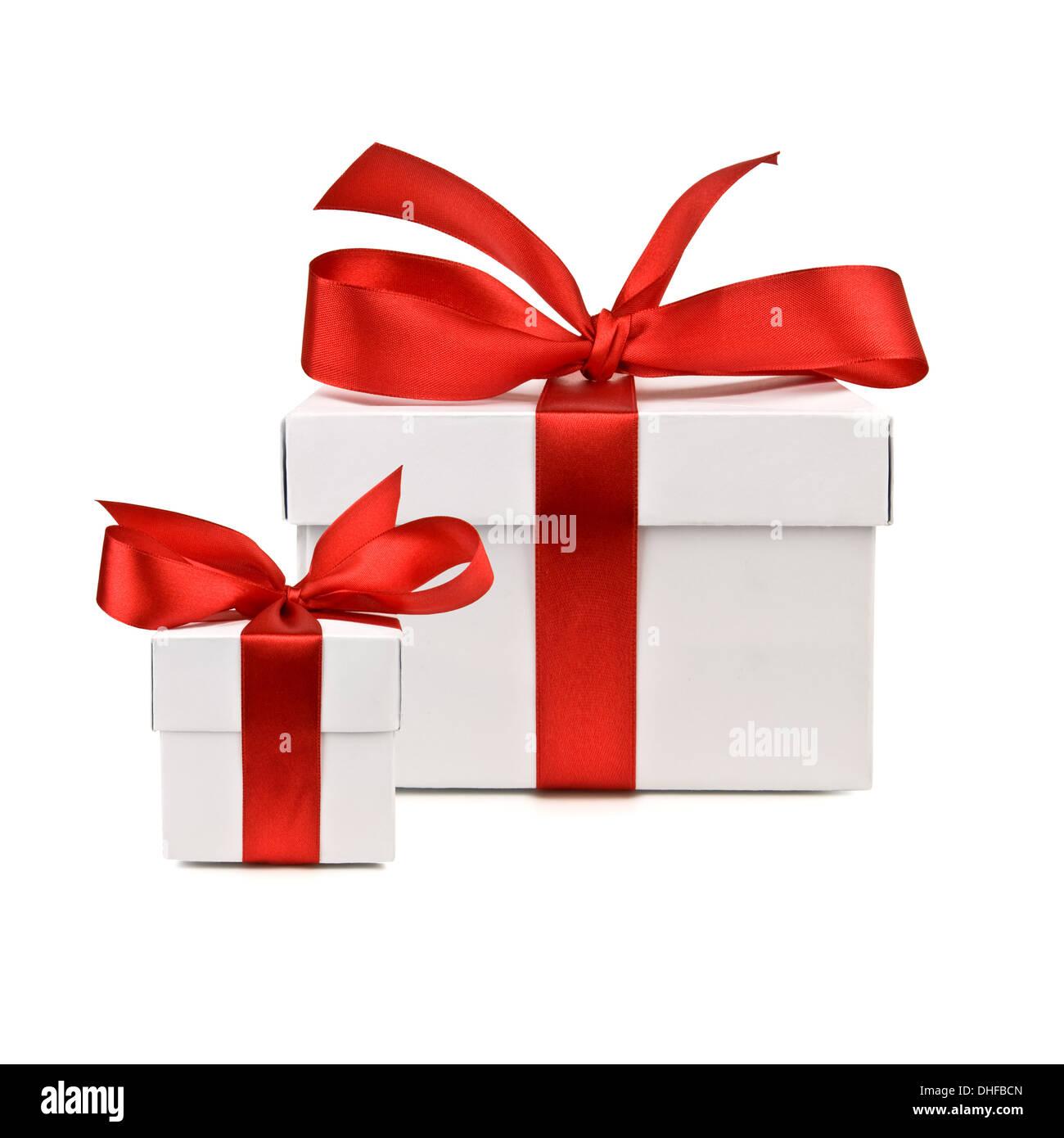 set of gift box isolated - Stock Image