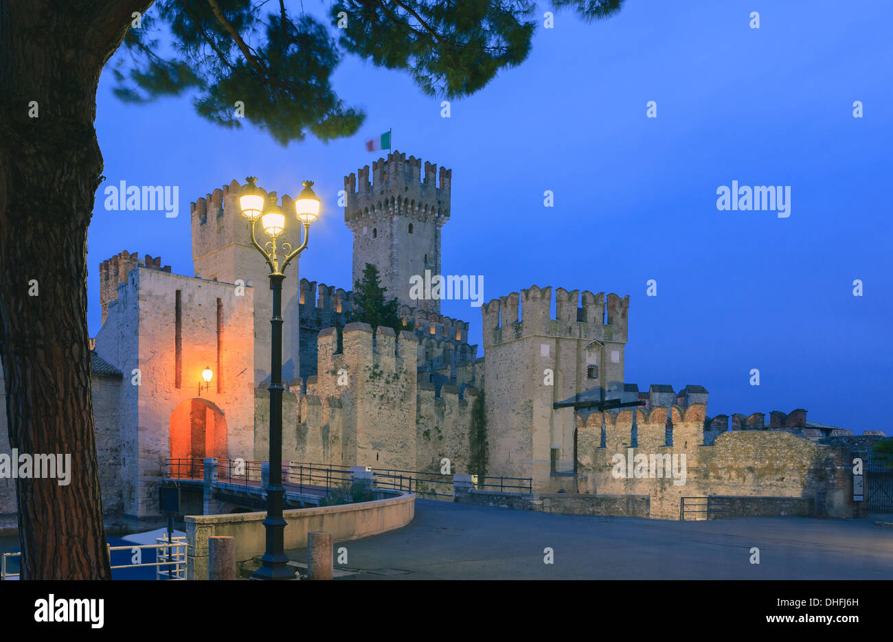 Sirmione is a commune at lake Garda in the province of Brescia, in Lombardy, northern Italy - Stock Image