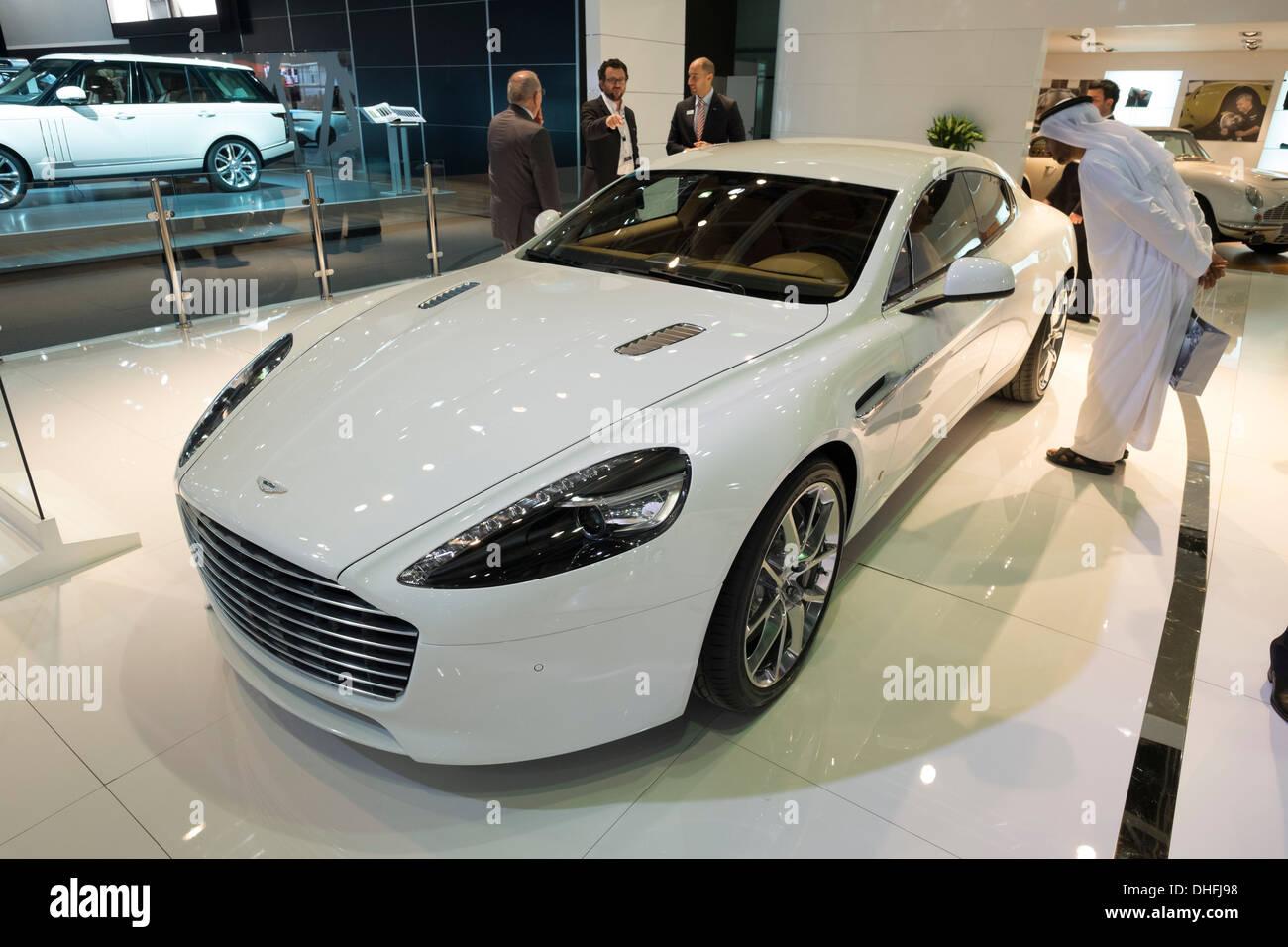 Aston Martin Rapide S at the Dubai Motor Show 2013 United Arab Emirates - Stock Image