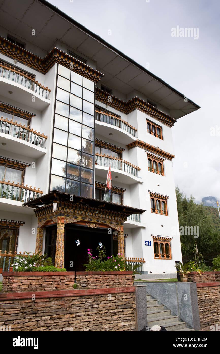 Bhutan, Thimpu, Shambala Serviced Apartments, accommodation rented to NGOs - Stock Image