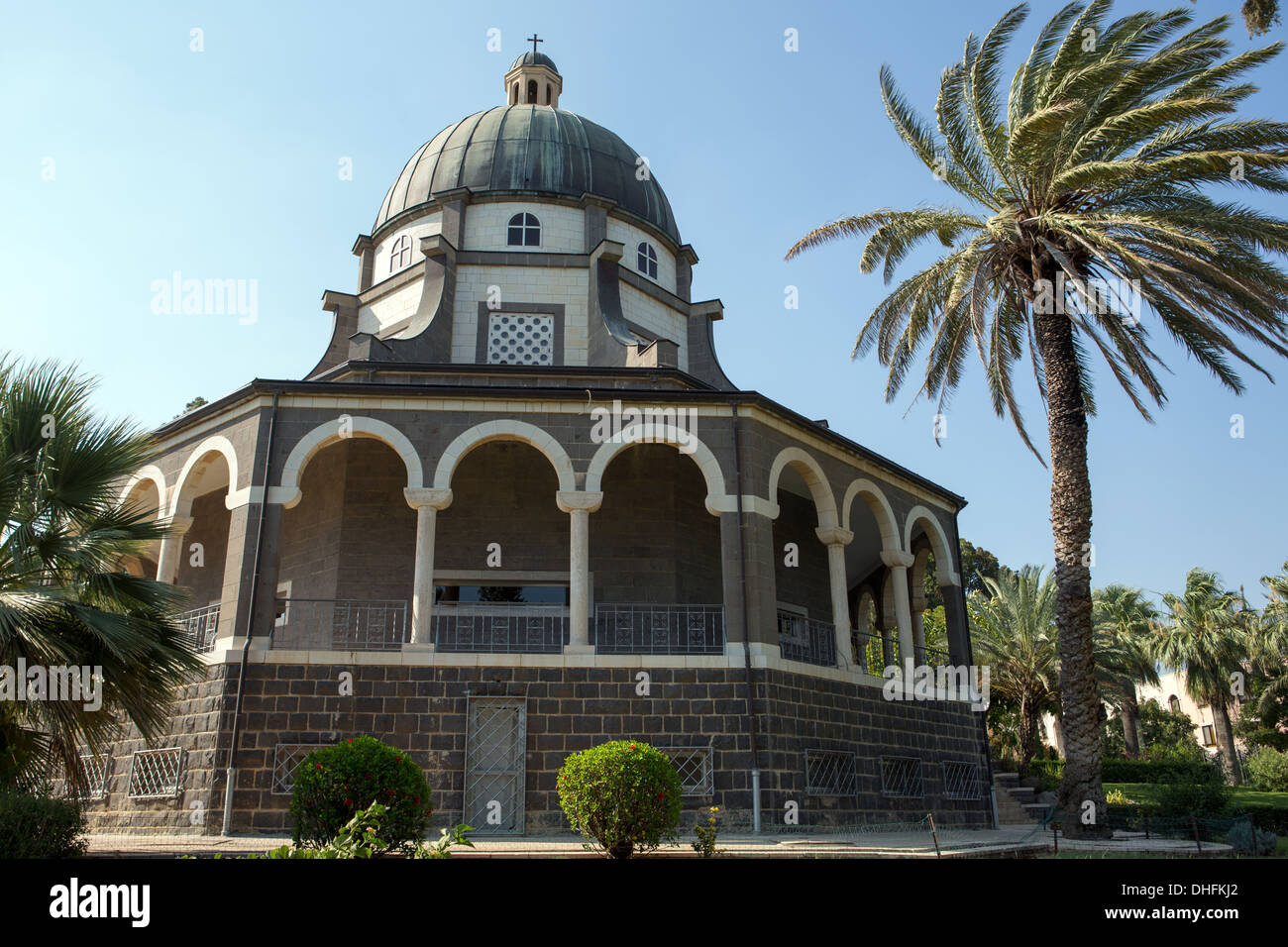 Chapel on the Mount of Beatitudes, Israel Stock Photo