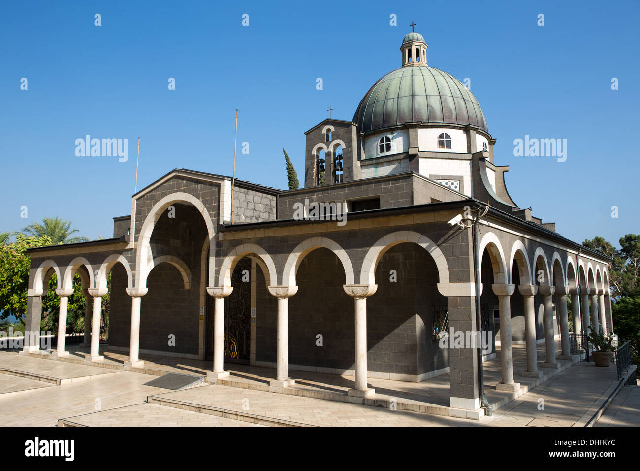 Chapel on the Mount of Beatitudes, Israel Stock Photo