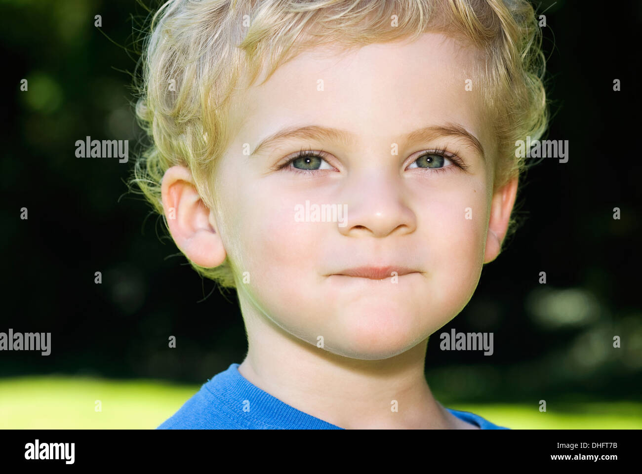 a portrait of a 4 year old boy Stock Photo