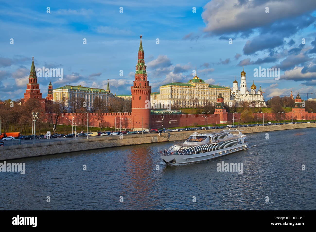 View of the Moscow Kremlin and the river - Stock Image
