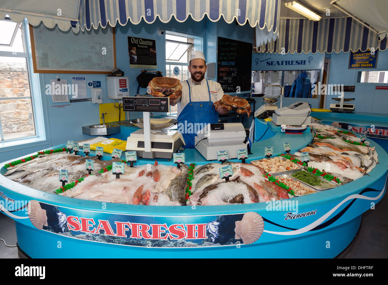 Fishmonger Counter Stock Photos Fishmonger Counter Stock Images