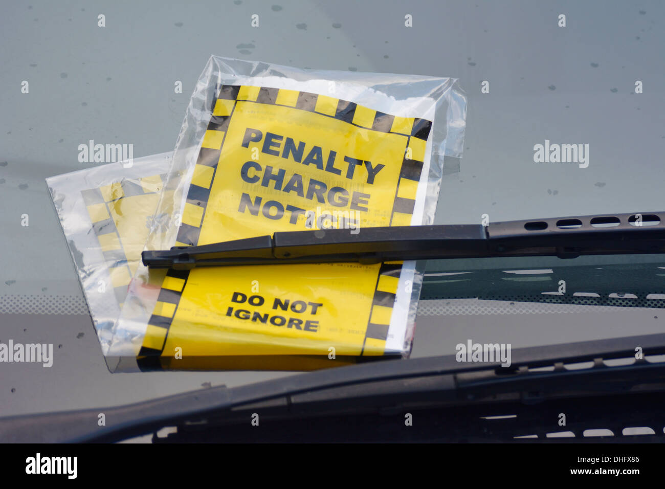 Penalty Charge notice - also known as a Parking Ticket. - Stock Image