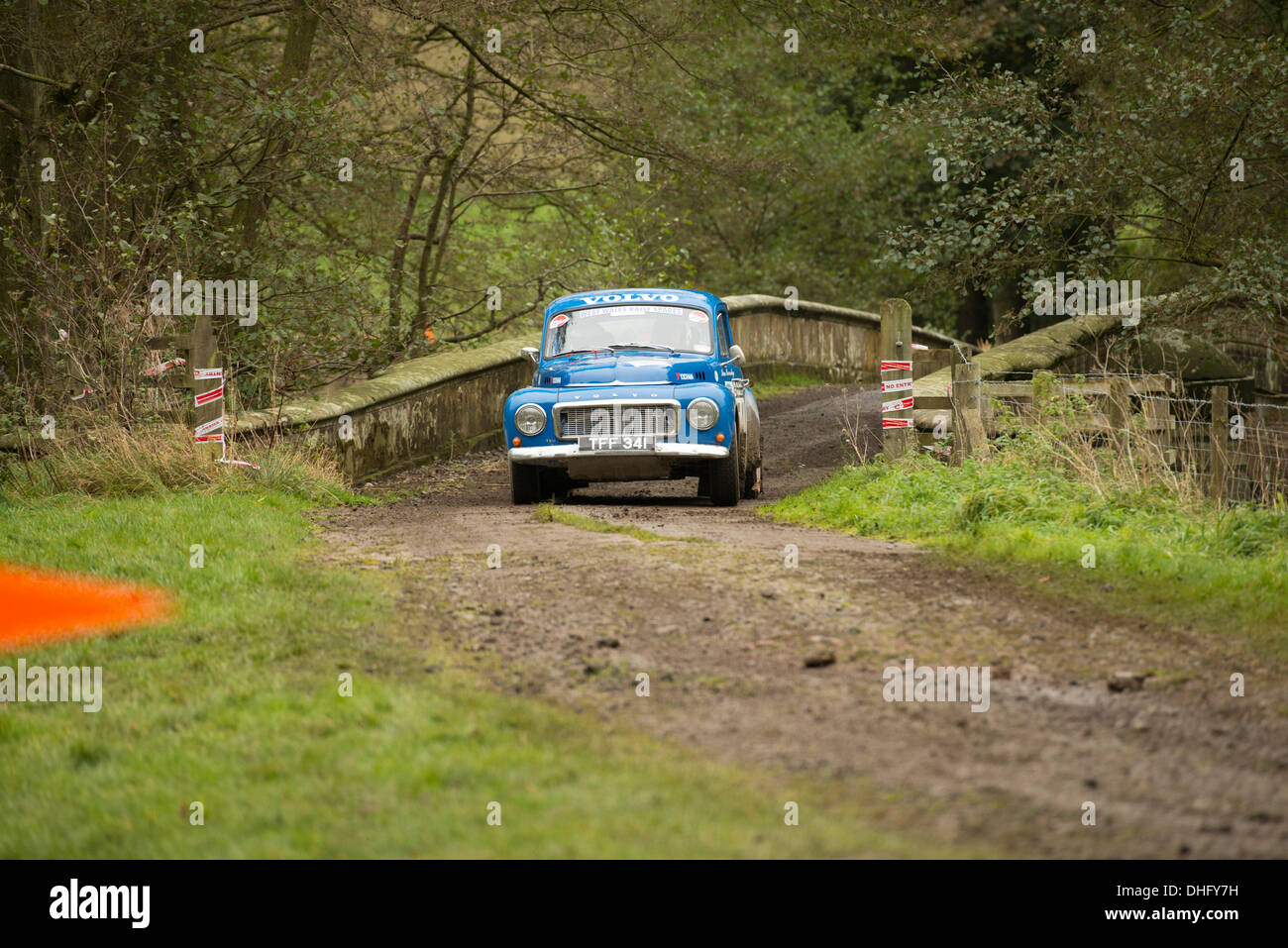 Duncombe Park, North Yorkshire, UK . 09th Nov, 2013. UK RAC Rally Duncombe Park Special Stage 8. Ian Beveridge and Peter Joy in a Volvo PV544. Credit:  Geoff Tweddle/Alamy Live News - Stock Image