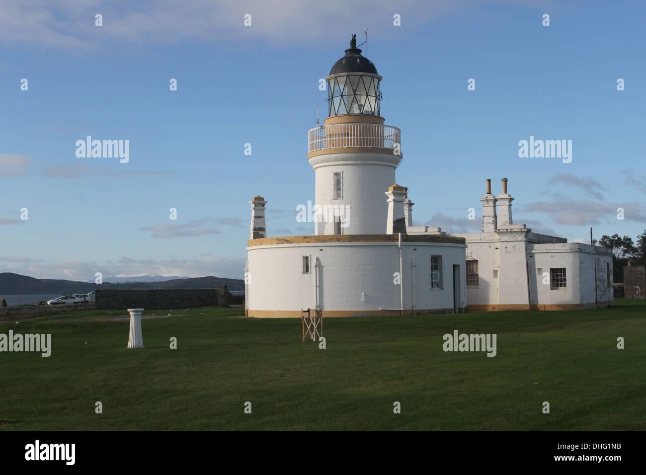 Lighthouse Chanonry point Scotland November 2013 - Stock Image