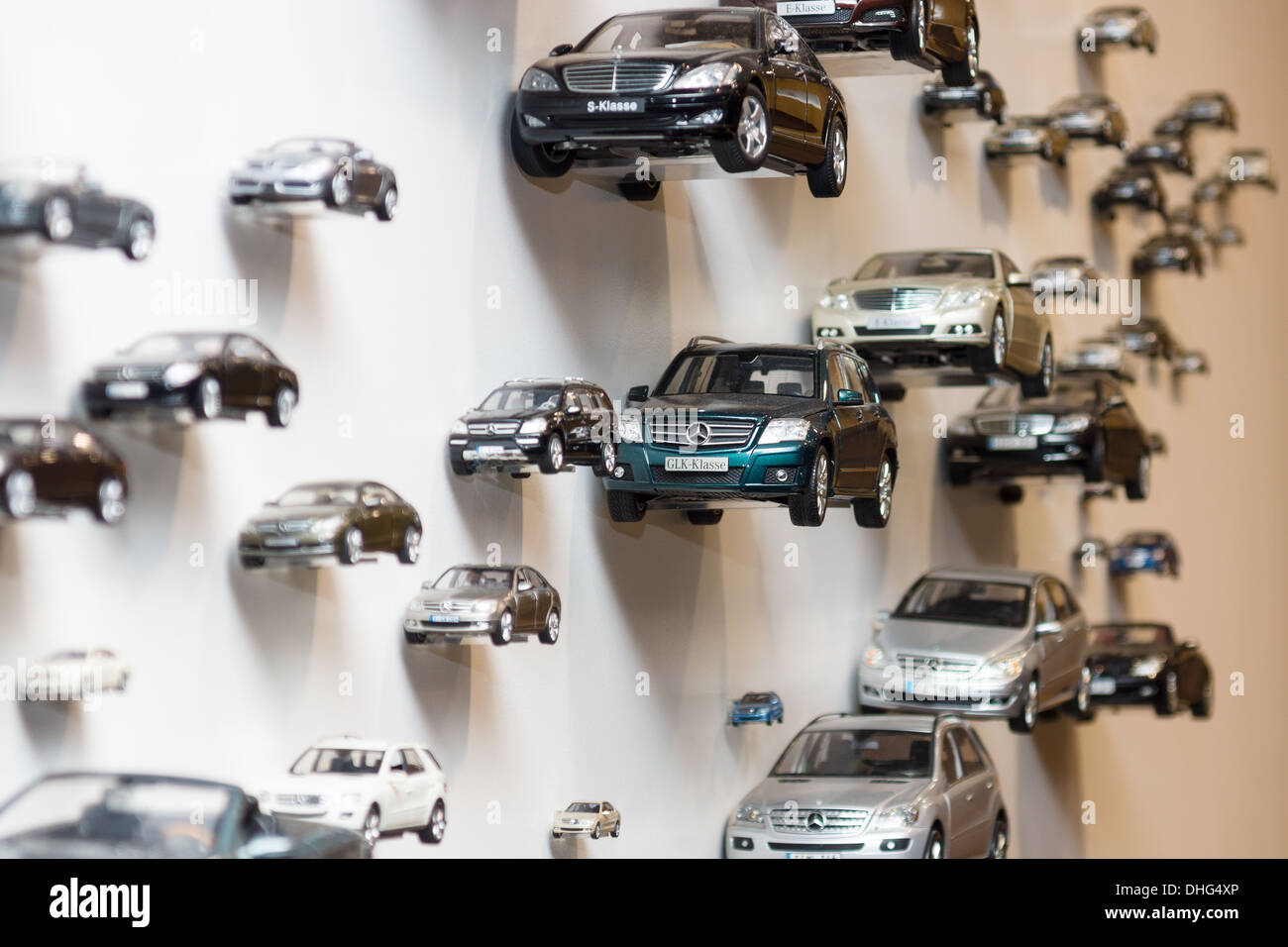 BERLIN - NOVEMBER 03: Various toy cars Mercedes Benz. Background., November 3, 2013 in Berlin, Germany. Stock Photo