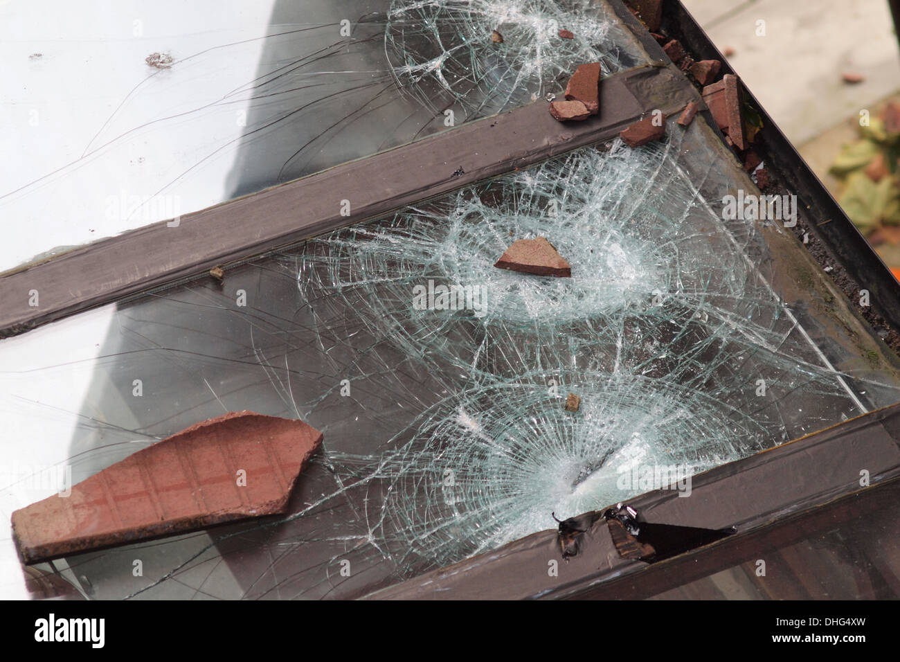 Storm damage to residential home in London England UK - Stock Image