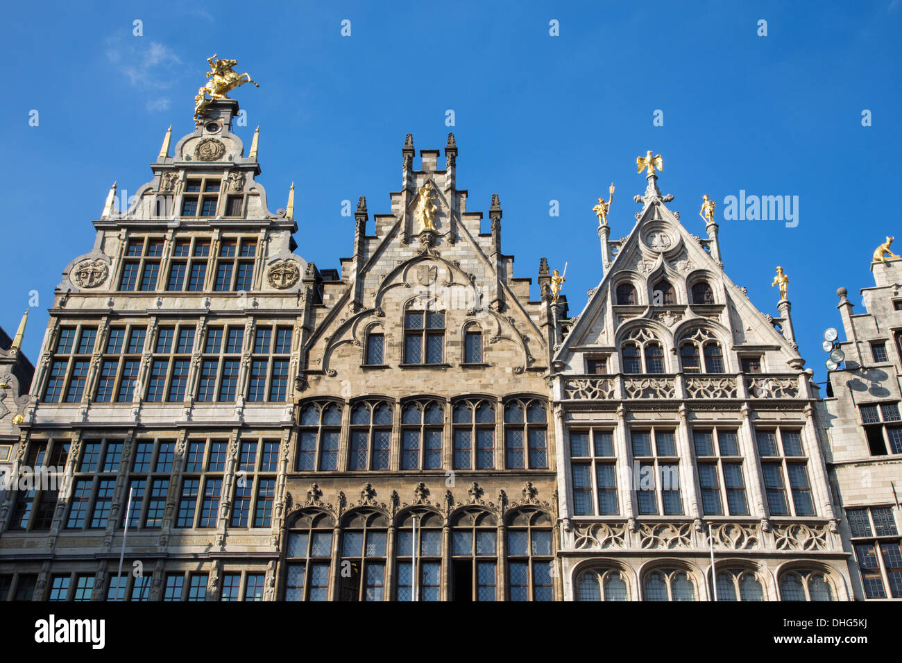 Antwerp - Palaces of Grote Markt Stock Photo