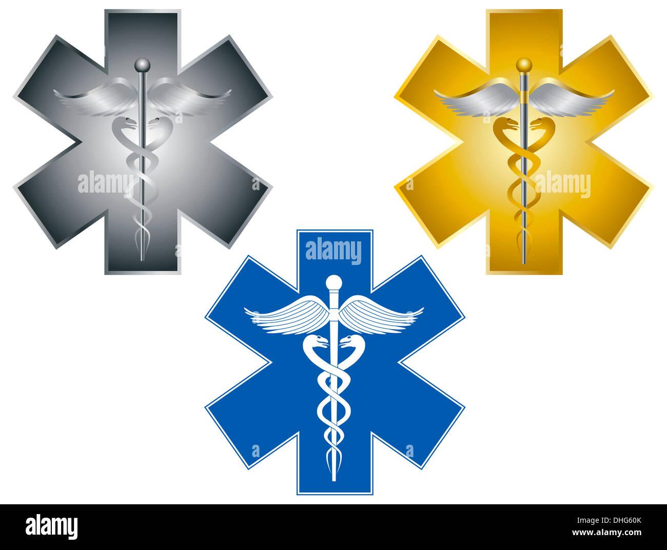 Star Of Life Caduceus Medical Symbol For Health Care Organizations