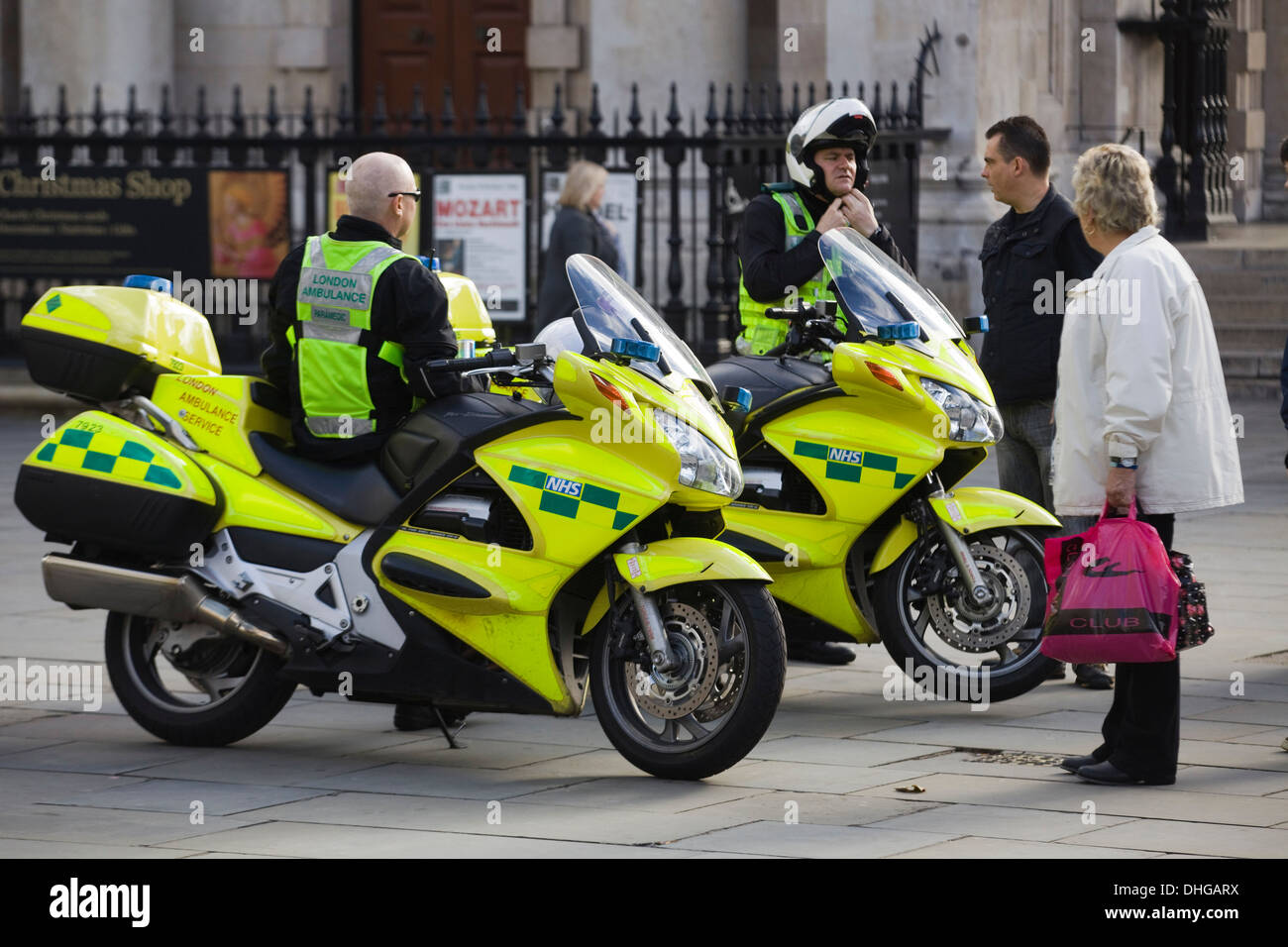 NHS Motorcycle Ambulance Service England - Stock Image