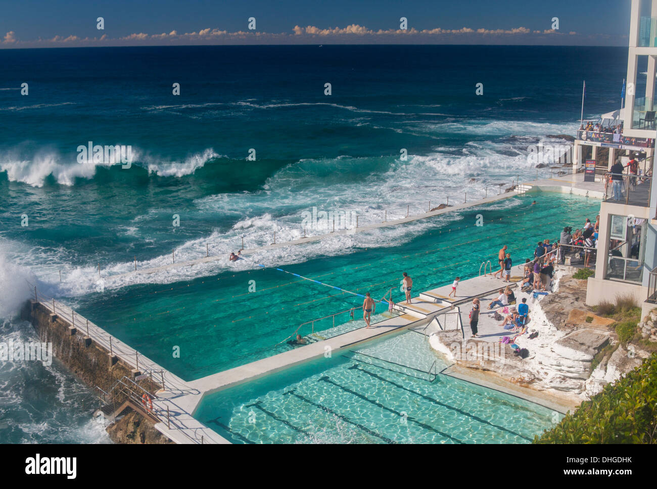 Bondi icebergs swimming pool sydney nsw australia stock photo 62442175 alamy for Swimming pools central coast nsw