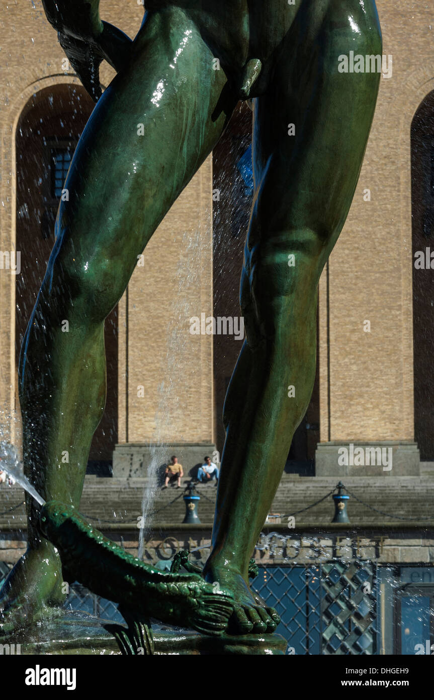 The statue of Poseidon, Gothenburg, Sweden - Stock Image