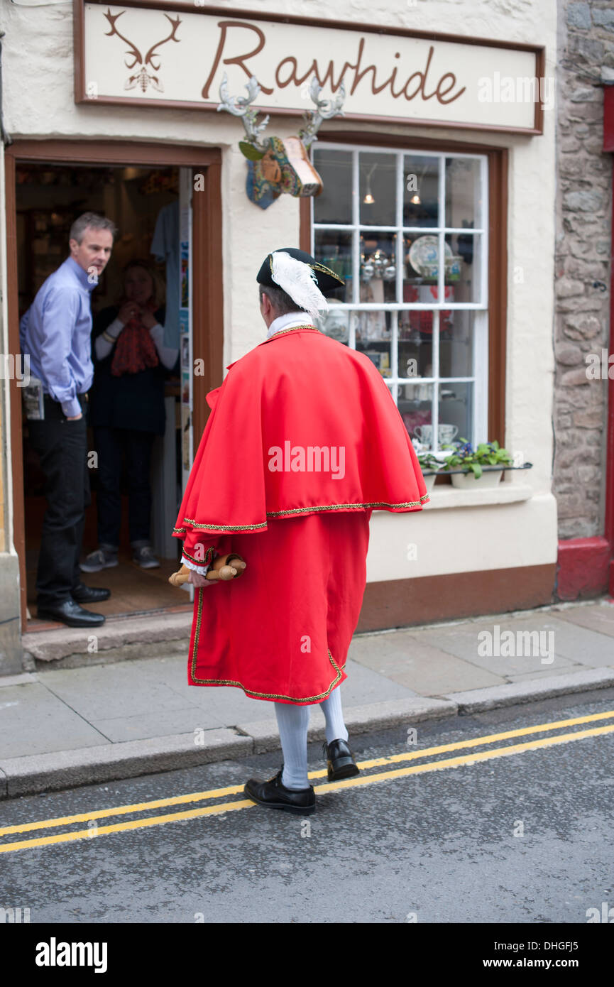 Town Crier Bookshop Hay-On-Wye UK - Stock Image