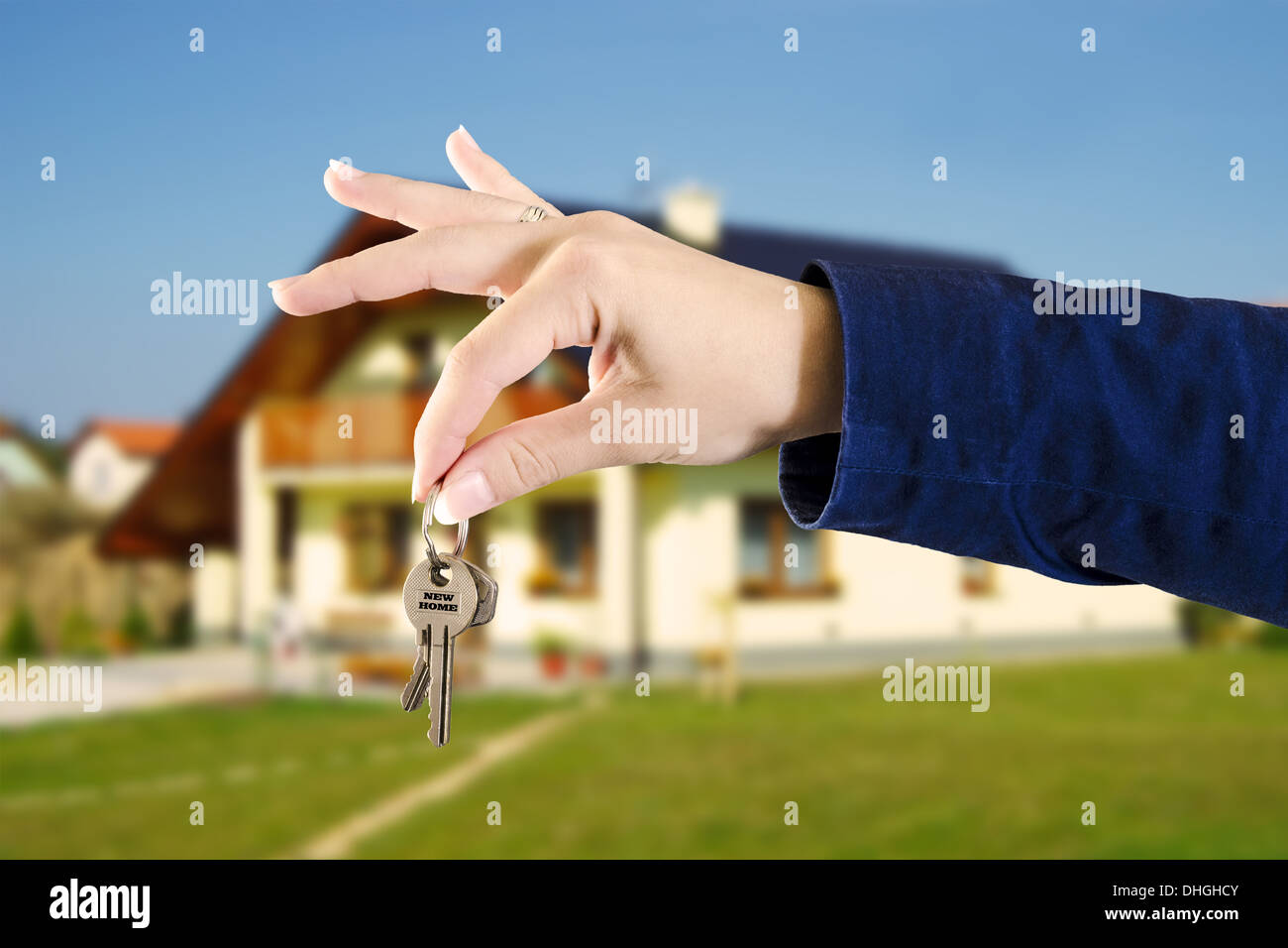 Real estate, keys from new home - Stock Image