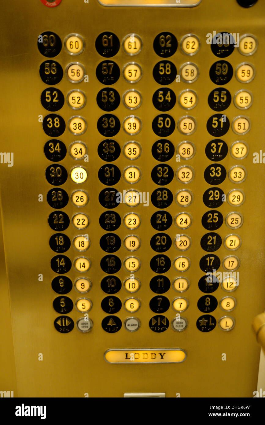 elevator floor selection panel 30th floor selected las vegas nv