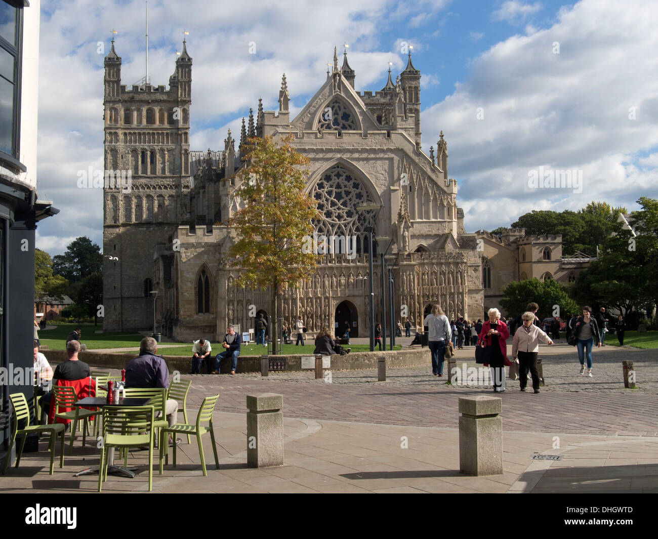 Cathedral Church of Saint Peter at Exeter, Devon - Stock Image
