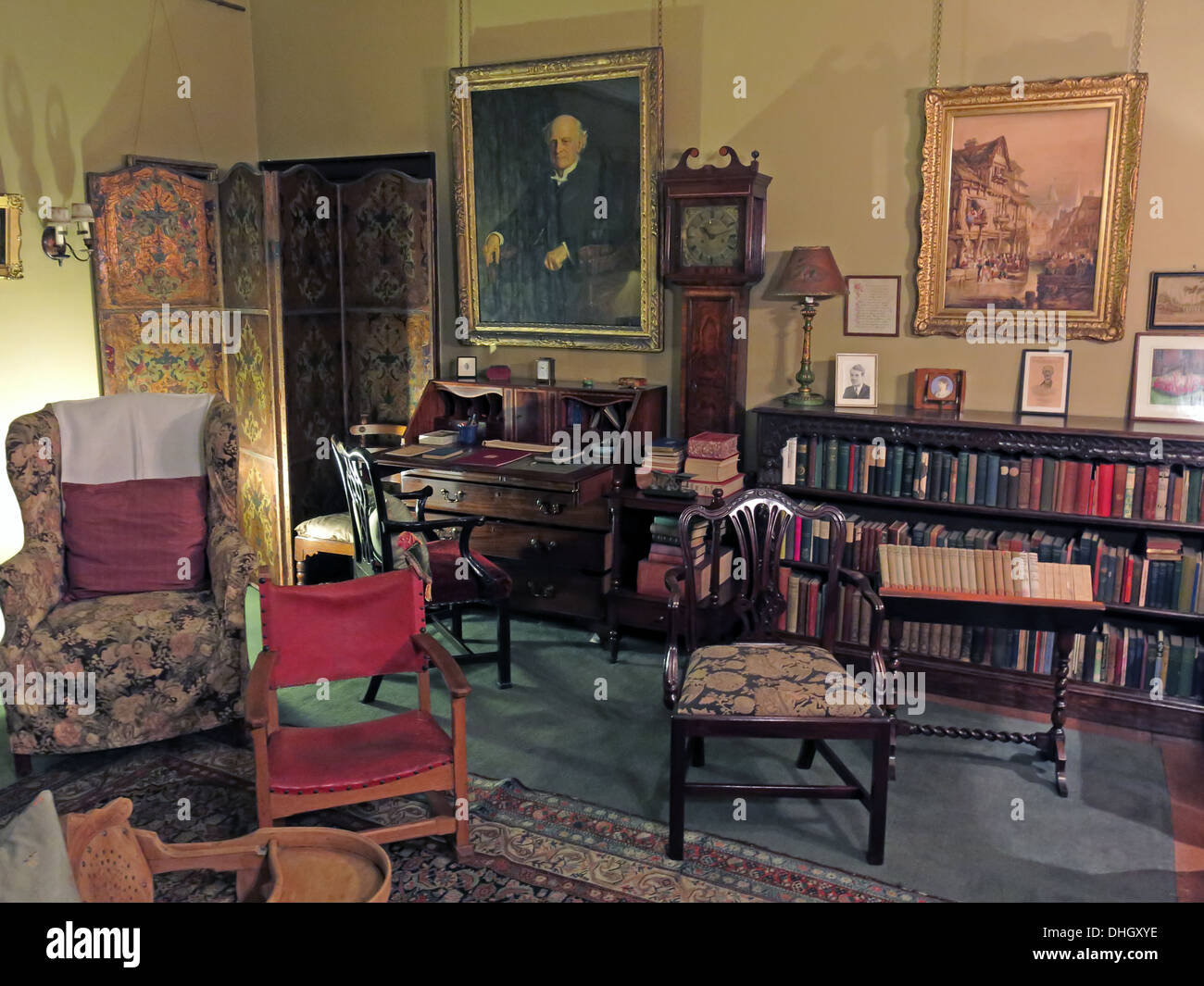 Play room, Dunham Massey, in the evening. NT near Altrincham, Cheshire, England, UK Stock Photo