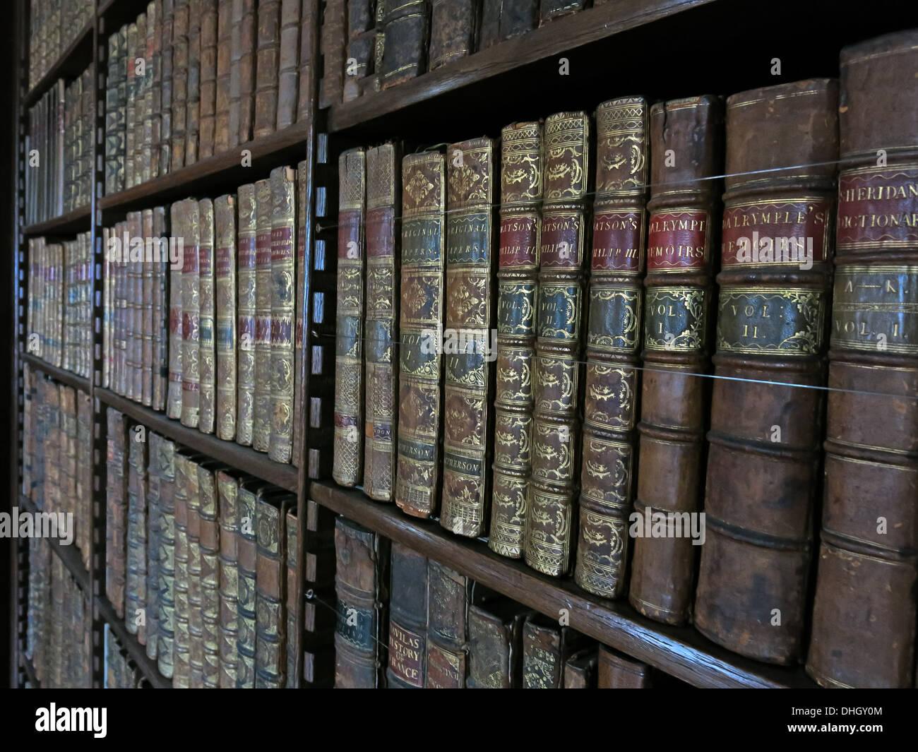 Library at the hall Dunham Massey house NT Near Altrincham Cheshire England UK WA14 4SJ Stock Photo