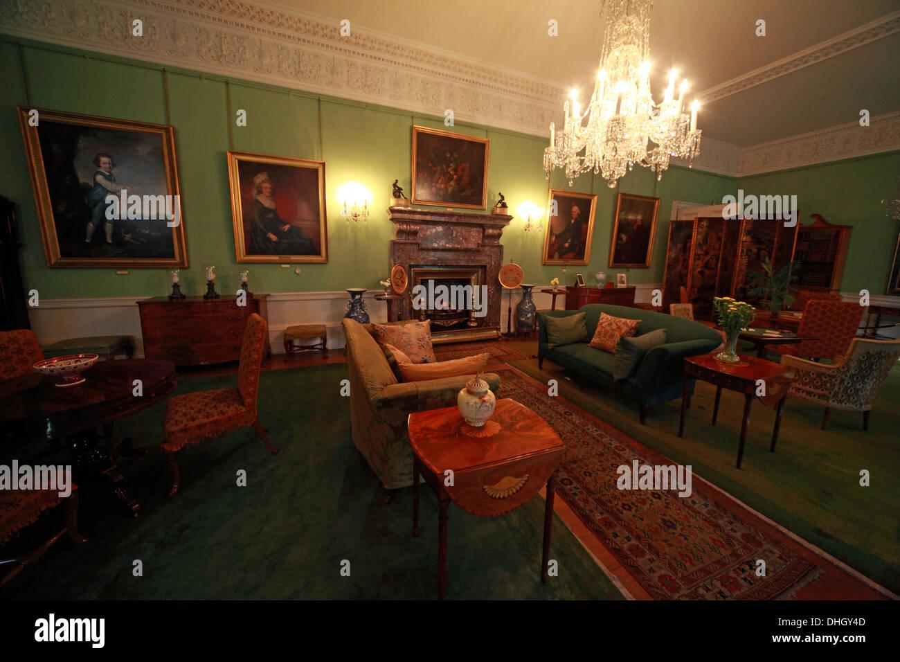Green Room Dunham Massey, NT, Near Altrincham, Cheshire, England, UK - Stock Image