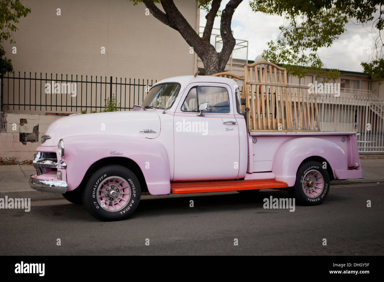 Classic Chevy Pickup Stock Photos 1954 Truck Vintage Chevrolet 3100 Parked On Side Of Road California Usa