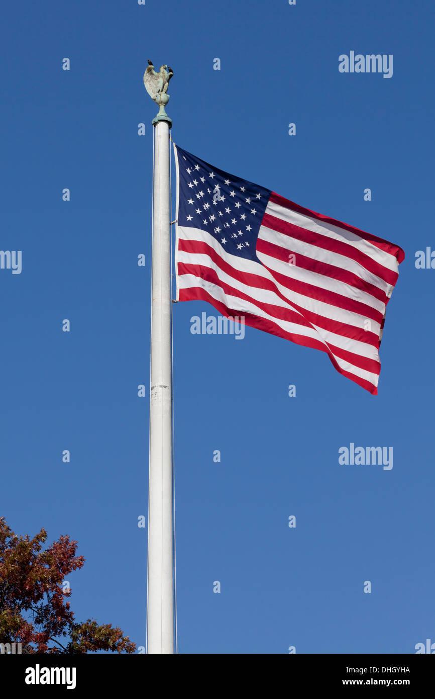 American flag on pole - Stock Image