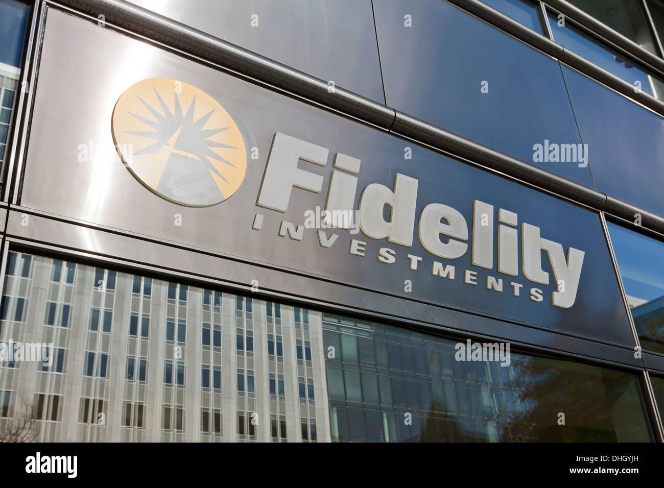 Fidelity Investments office sign - Washington, DC USA - Stock Image