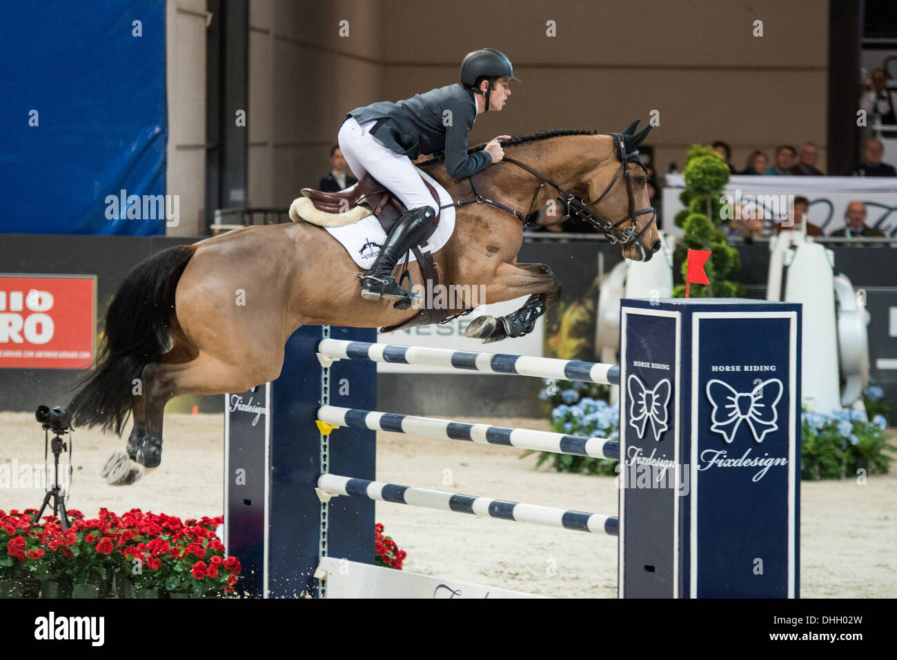 Christian Ahlman wins Longines FEI Worldcup in Verona with Aragon Z Stock Photo