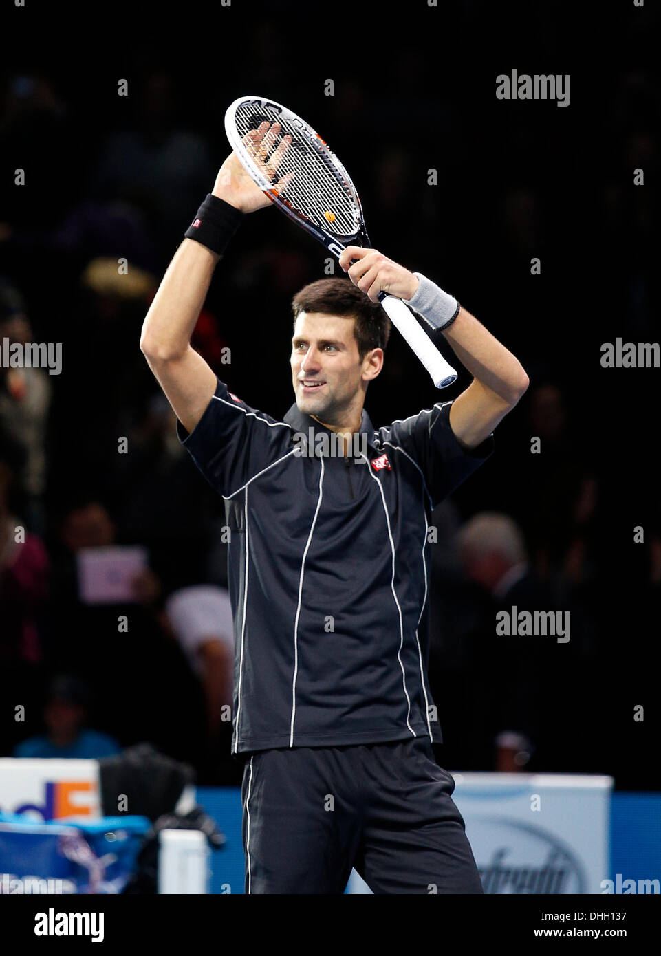 London Uk 10th Nov 2013 Novak Djokovic Srb Defeats Stanislas