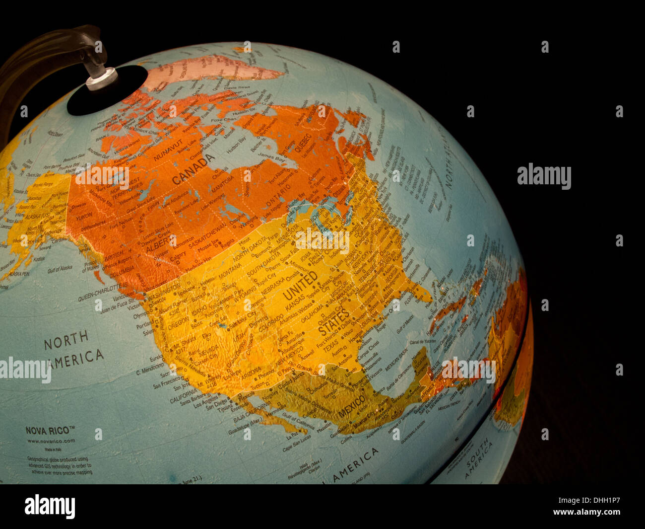 A view of north america canada mexico and the united states on a a view of north america canada mexico and the united states on a beautiful illuminated globe gumiabroncs Images