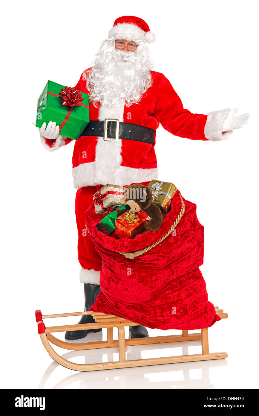santa claus with a sack full of gift wrapped toys and presents on a stock photo 62456664 alamy - Santa Claus Presents