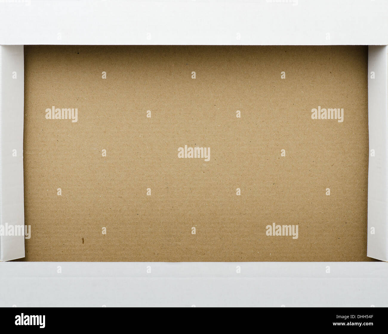 Close up of cardboard box frame - Stock Image