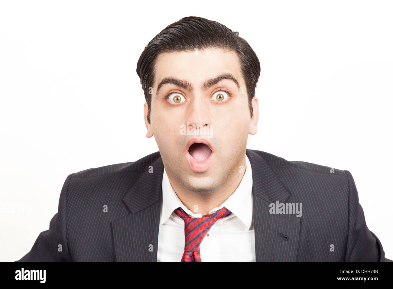 Bussiness man with a shocked expression - Stock Image