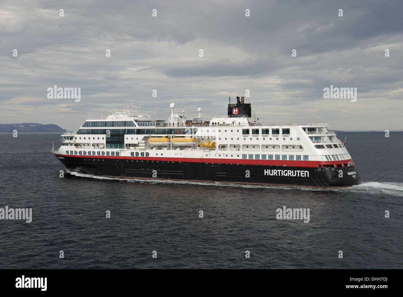 MS Midnatsol in Norway - Stock Image