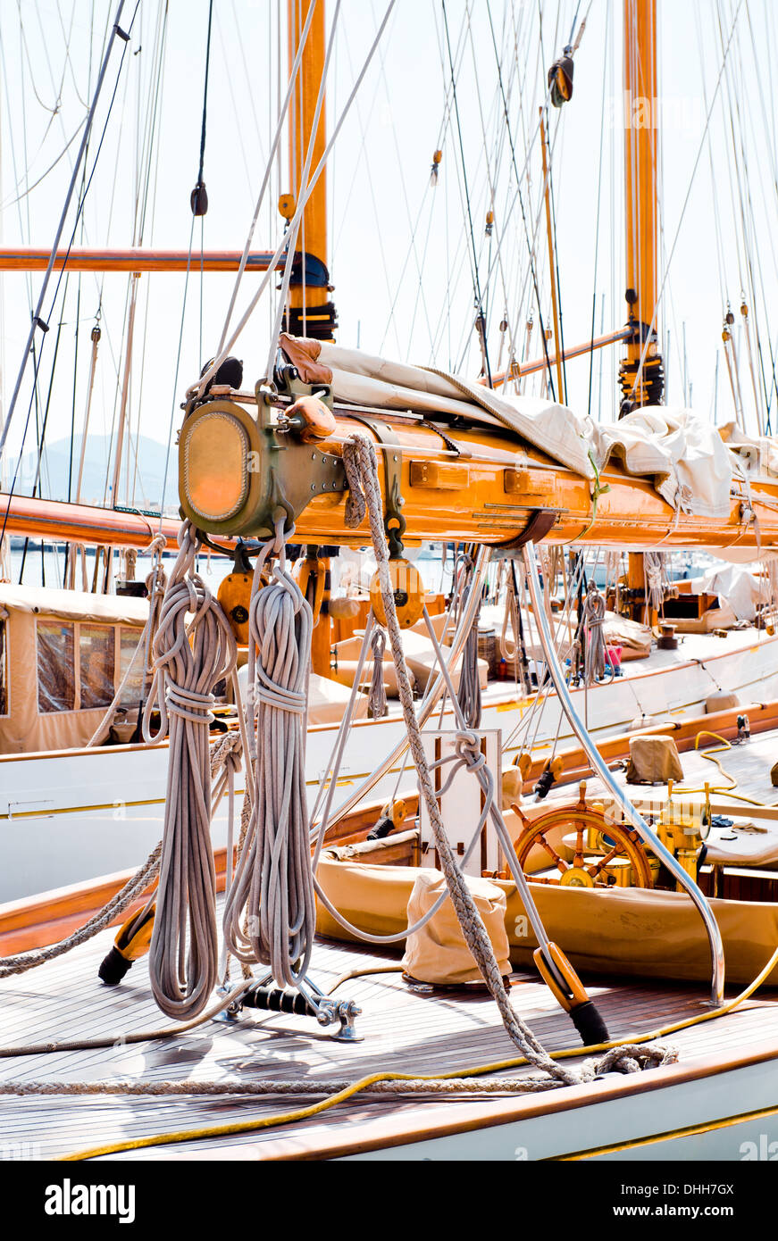 Yacht rigging - Stock Image
