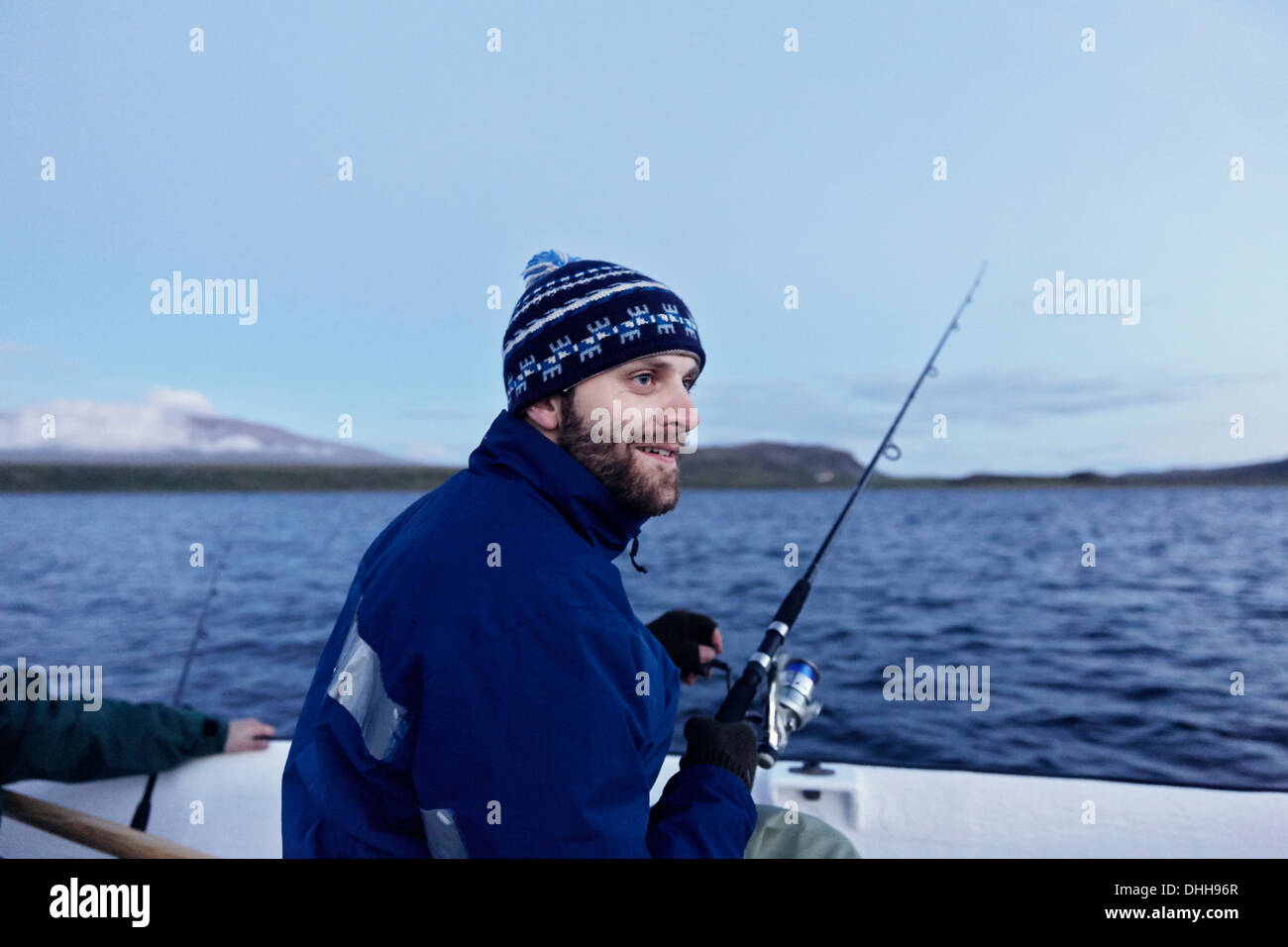 Men on fishing trip - Stock Image