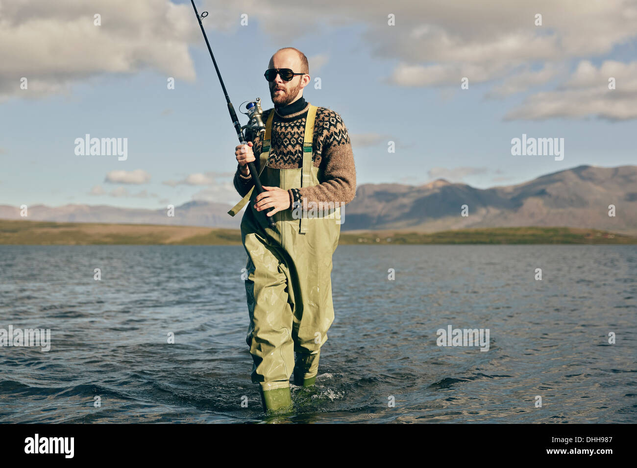Man fishing - Stock Image